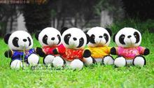 10 pieces a lot small cute panda toys new plush tang suit panda dolls gift about 18cm