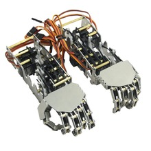5DOF Humanoid Five Fingers Metal Manipulator Arm Left Hand & Right Hand with A0090 Servos for Robot DIY