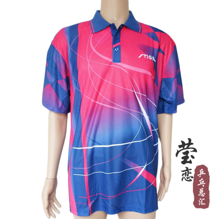 Original Stiga t-shirt for table tennis rackets short-sleeve jersey racquet sports table tennis paddles unisex pingpong game