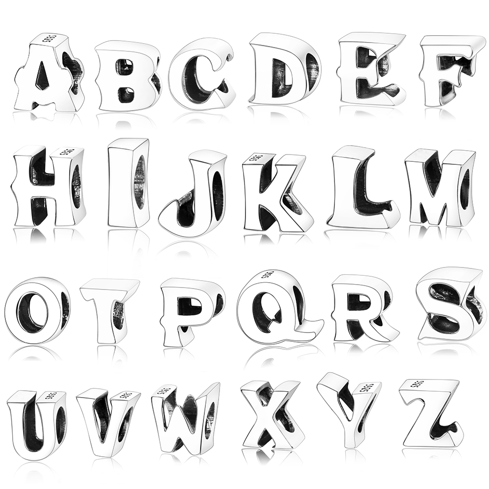 Aliexpress Com Buy 925 Sterling Silver A To Z Alphabet