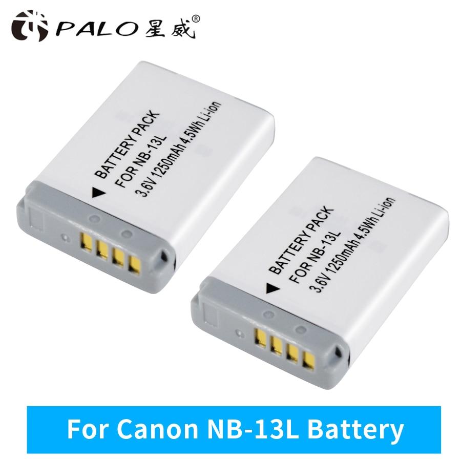 PALO 2 pc 3.7 v NB-13L NB 13L NB13L Batterie pour Canon Power Shot G5X G7X G9X G7 X Marque II G9 X, SX620 SX720 SX730 HS Appareil Photo Numérique