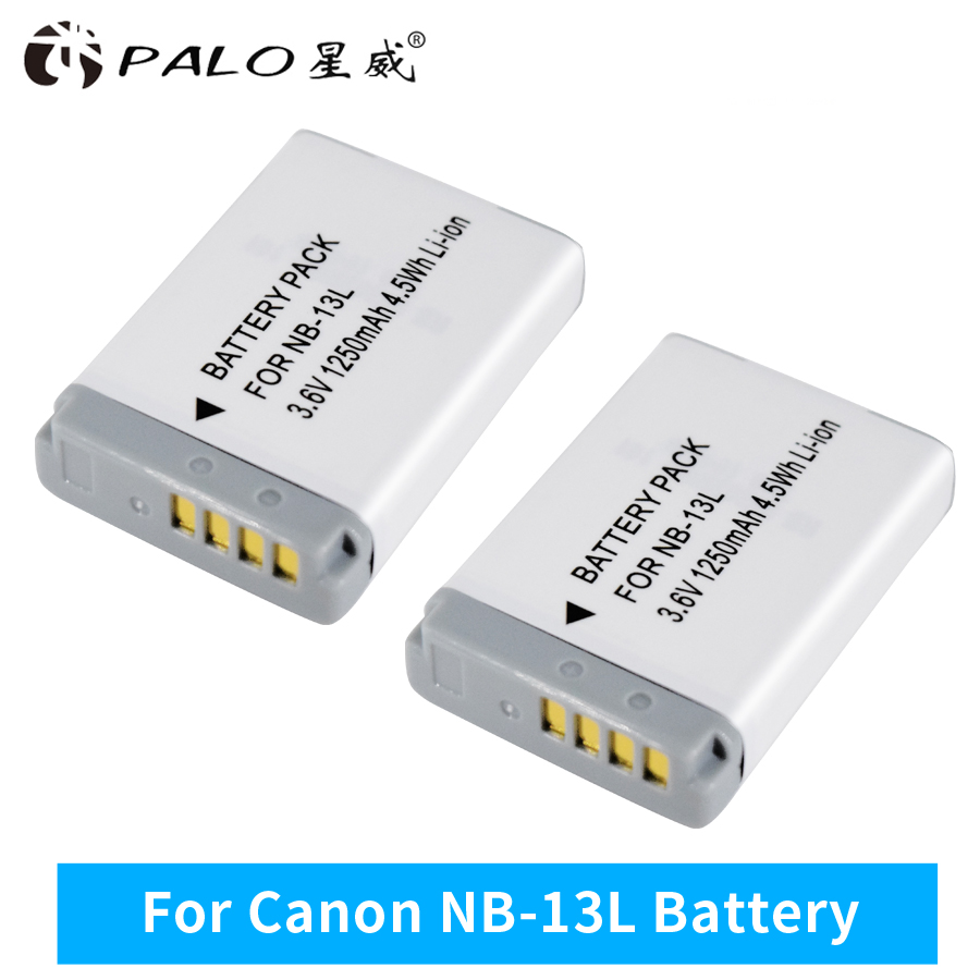 PALO 2pc 3.7V NB-13L NB 13L NB13L Battery for Canon Power Shot G5X G7X G9X G7 X Mark II G9 X,SX620 SX720 SX730 HS Digital Camera стоимость