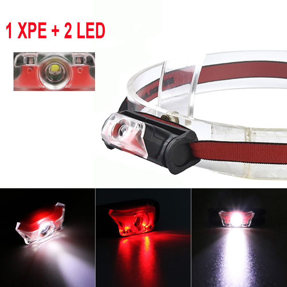 Mini Super Bright Headlight XPE + 2 LED 4 Mode Headlamp Head Torch Lamp