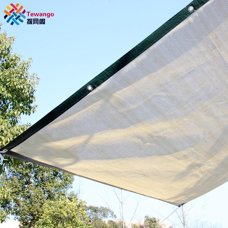 Tewango Brand 95 shade Rate 180g sqm D ring 50cm Space HDPE Mesh Outdoor Shade Sails