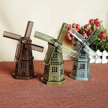 купить Dutch tourism commemorative shot Dutch windmill European metal crafts ornaments alloy windmill Mill European decor home онлайн