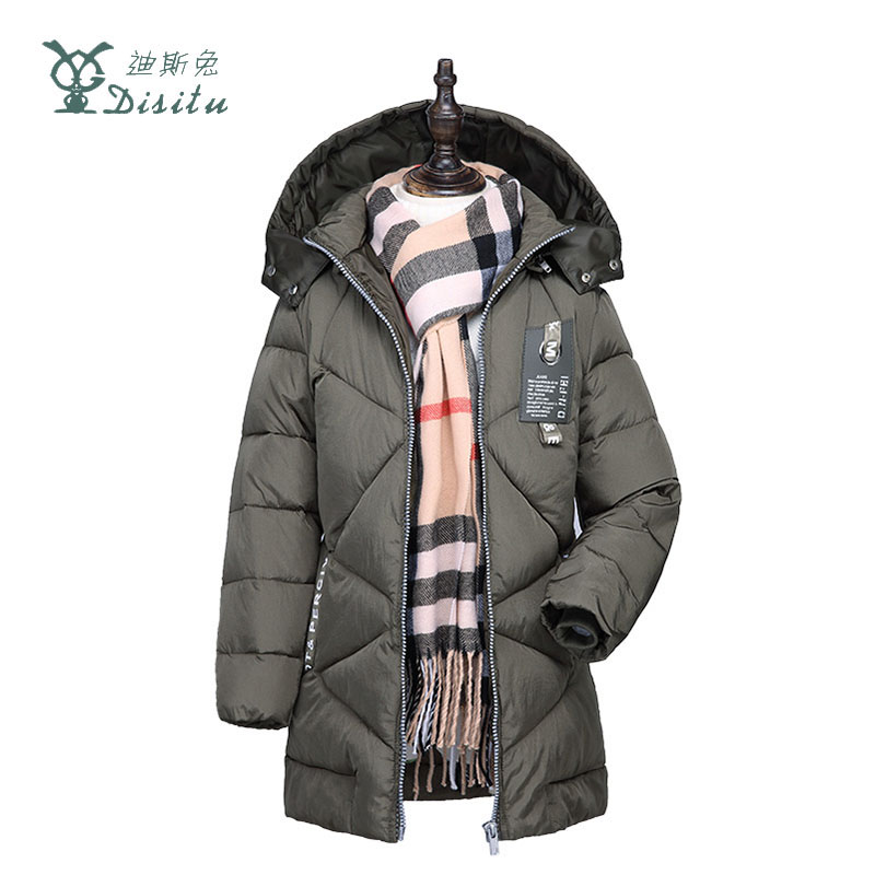 DISITU 2017 New Boys Winter Long Down Jackets Outerwear Coats Fashion Thick Warm White Duck Down Jacket For 4-11Y Kids Clothes casual 2016 winter jacket for boys warm jackets coats outerwears thick hooded down cotton jackets for children boy winter parkas