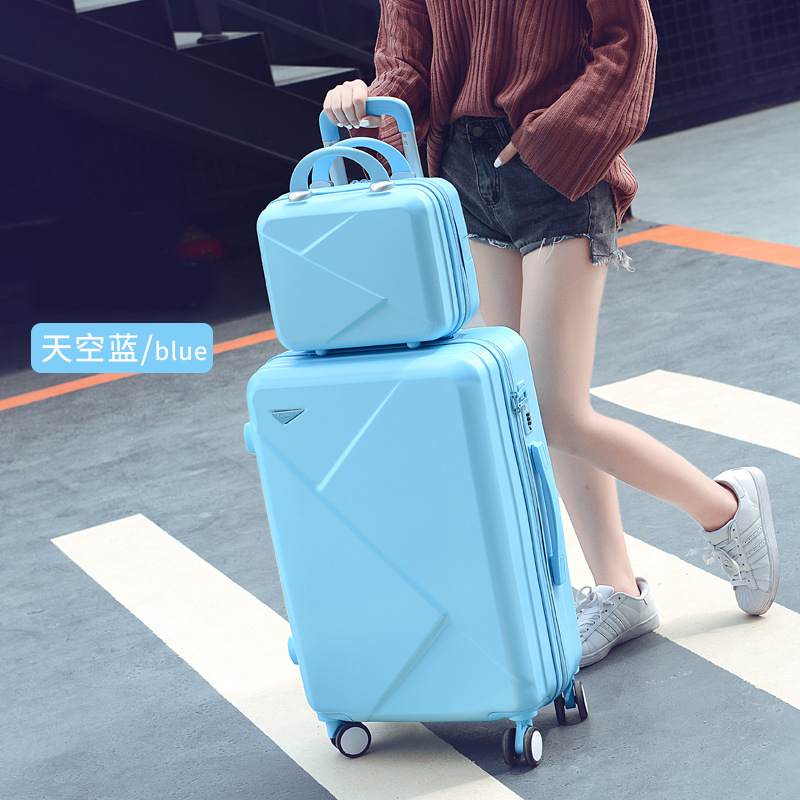 new student suitcase female universal wheel 20 inch small fresh travel trolley case 24 inch candy color password suitcase set
