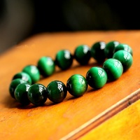 10mm Natural Stones Jewelry Beads Green Tiger's eye quartz Crystal Charm Bracelets for Women Original DIY Jewelry