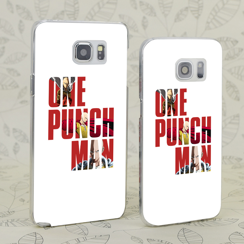 US $2 42 16% OFF|C0824 One Punch Man Typography Transparent Hard PC Case  Cover For Samsung Galaxy S 3 4 5 6 7 Mini Edge Plus Note 3 4 5 9-in Fitted
