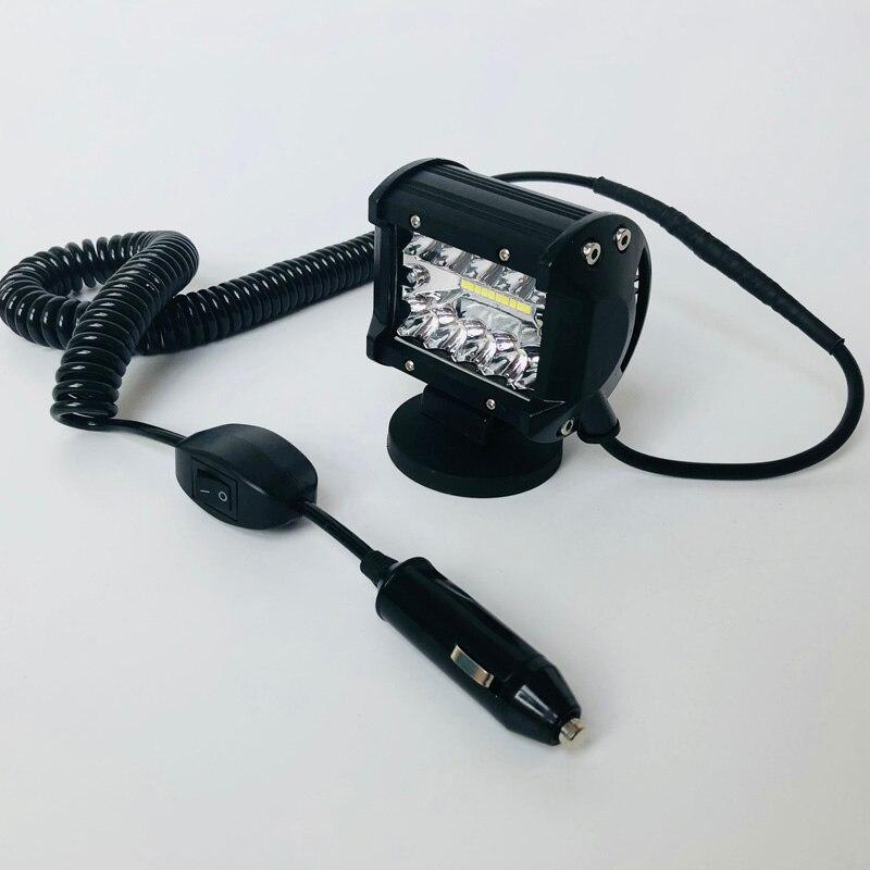 12v 24v 60w Spot Flood Combo Led Car headlight Magnet Mounting bracket Offroad 4x4 work light