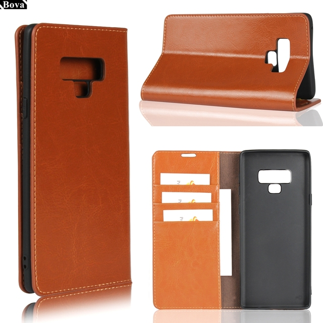 on sale ef5f0 ddec6 US $10.79 10% OFF|Deluxe Wallet Case for Samsung Galaxy Note 9 leather Case  for Samsung Note 9 Flip Cover Phone Bags-in Flip Cases from Cellphones & ...