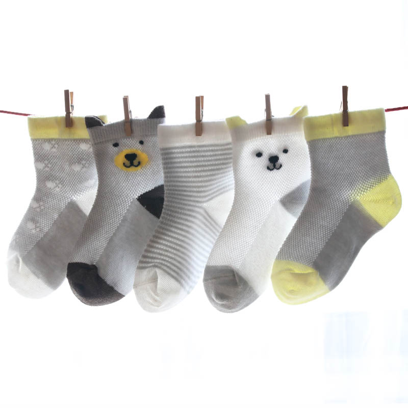 Cartoon Infant Socks Birthday Gifts For Baby 5 Pairs Lot Newborn Boys Girls Toddler Anti Slip In Pakistan