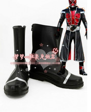 New Arrival Masked Rider Wizard Cosplay Boots Custom Made Shoes