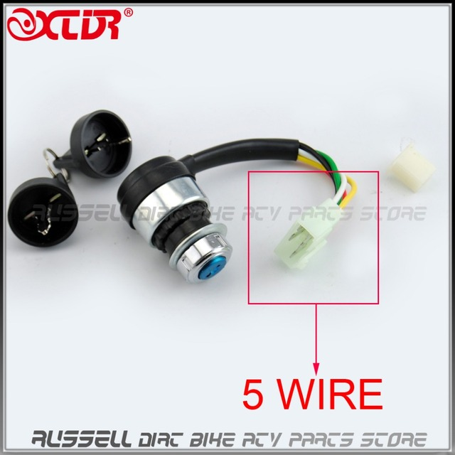 5 Wires Pin Ignition Key Switch Lock for Chinese 150cc 250cc ...