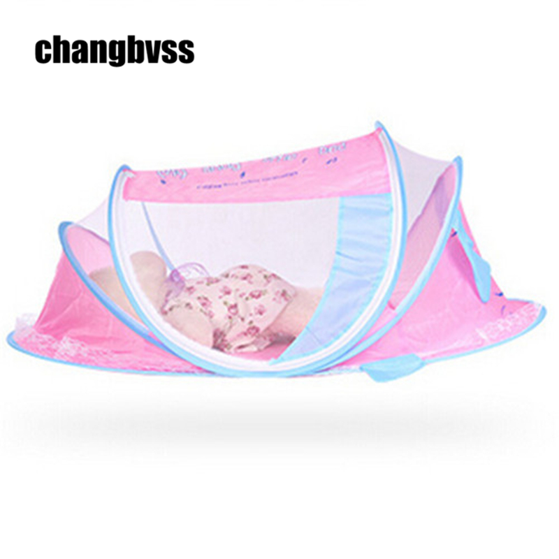 Foldable baby crib Toddler Kids Infant Baby Safty Mosquito Net Netting Crib Bed Playpen Travel Tent Boat Style baby bed canopy without bottom portable folding baby bed mosquito net children mosquito tent 65 115cm kids outdoor camping tent