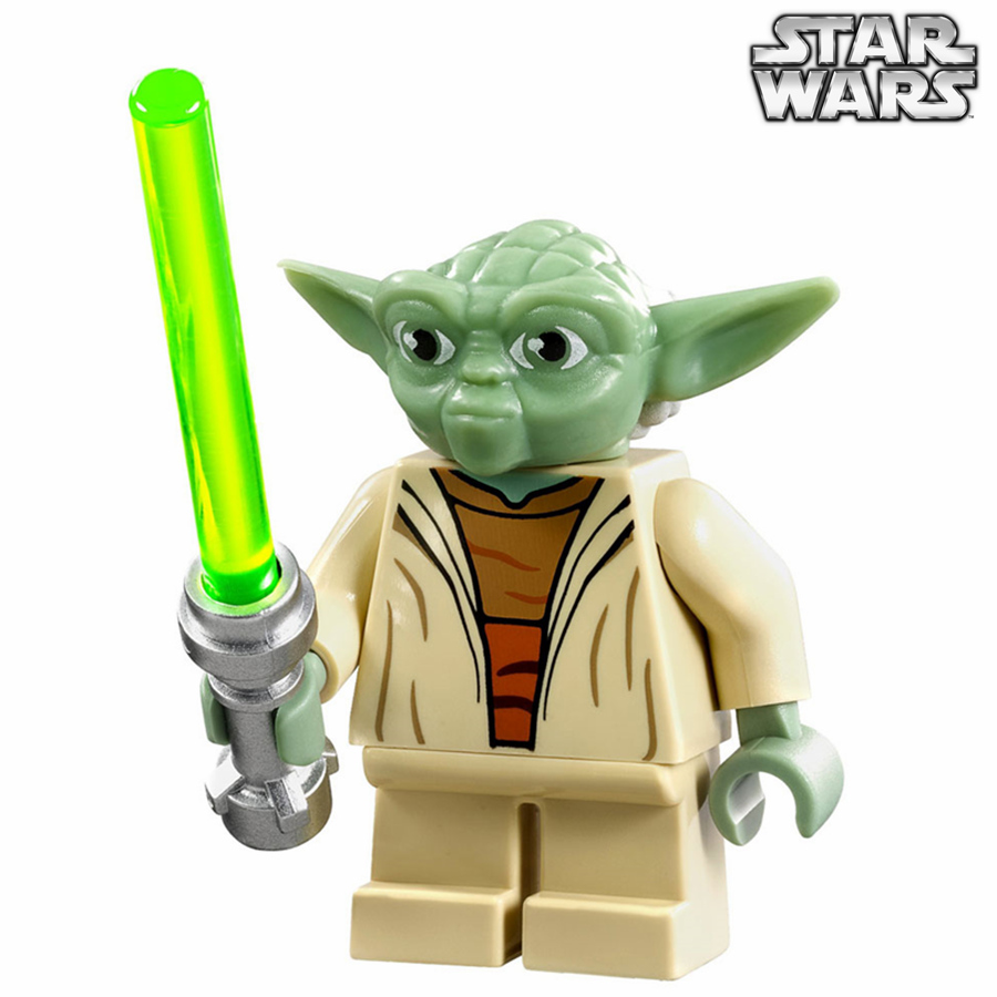 Single Sale STAR WARS Rogue One Jedi Master Yuda Yoda with Lightsaber Darth Vader Model minifig Building Blocks Kids Toys Gifts single sale star wars rogue one k 2so droid robot sw782 assemble minifig building diy blocks kids toys