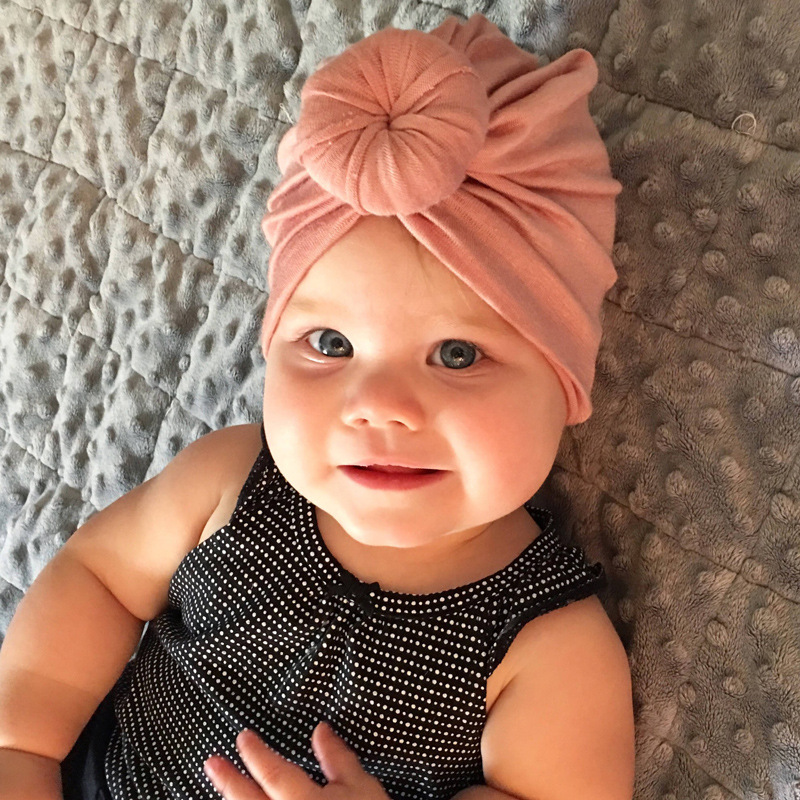 Mother & Kids Just Baby Toddler Boy Girl Indian Style Stretchy Solid Turban Hat Hair Head Wrap Cap 10 Colors Accessories