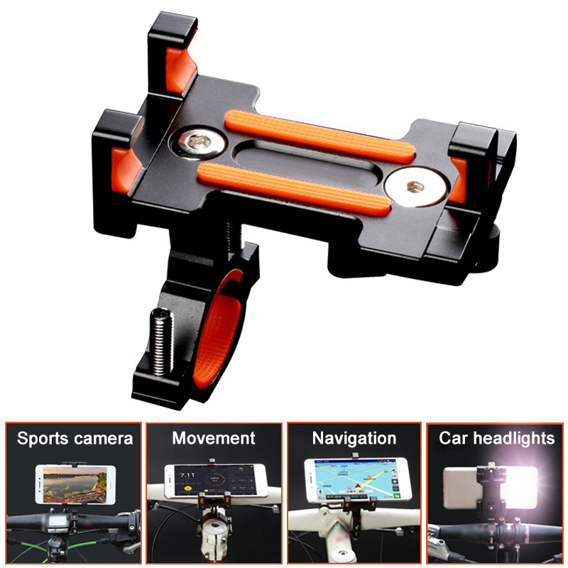 New Fashion Aluminum Alloy Universal Non-Slip Mountain Bike Bracket Mobile Phone Holder Clip Stand 88 YS-BUY