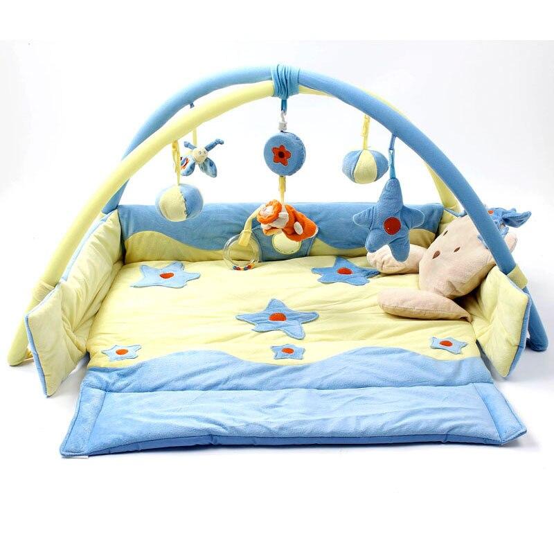 RAINBOX Soft Foldable Baby PlayMats Blue Prince Velvet Game Mat Newborn Play Mat Crawling Tapete Kids Educational Toys zl853