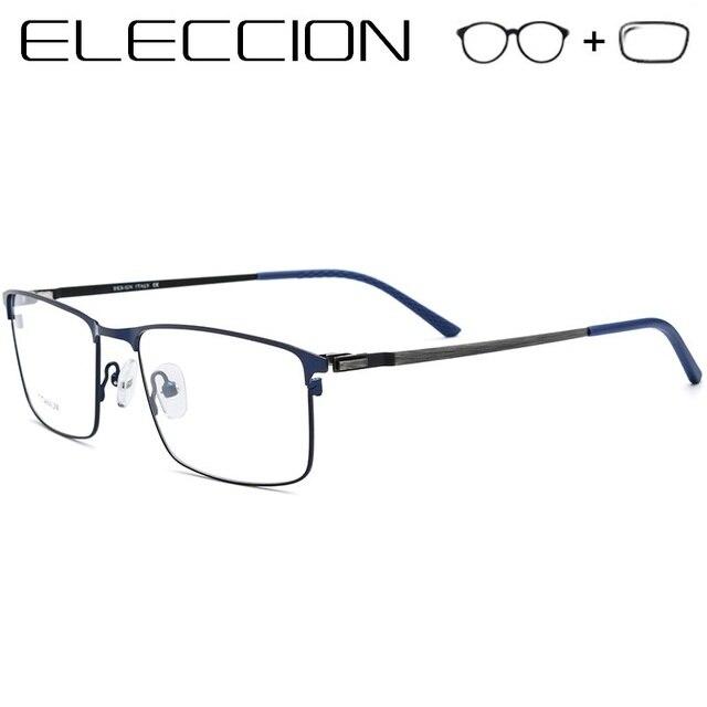 Homens Óculos De Prescrição de Lentes Asféricas ópticos 2018 Novo Sem  Parafusos de Liga de Titânio e5673380f0