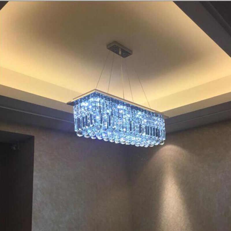 Sederhana dipimpin lampu kristal restoran lampu kristal persegi panjang kreatif bar lampu chandelier perlengkapan pencahayaan dipimpin lampu rumah