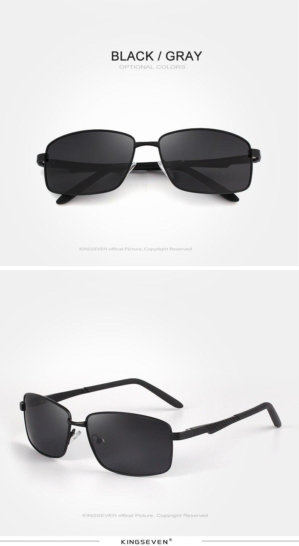 KINGSEVE Brand rectangular sunglasses male and female neutral sunglasses retro sunglasses with polarized lenses uv 400 5