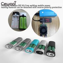 Power Bank Case Kit 2X 18650 Battery Detachable Battery Holder External for Smart Phone Plastic Travel Battery Charger