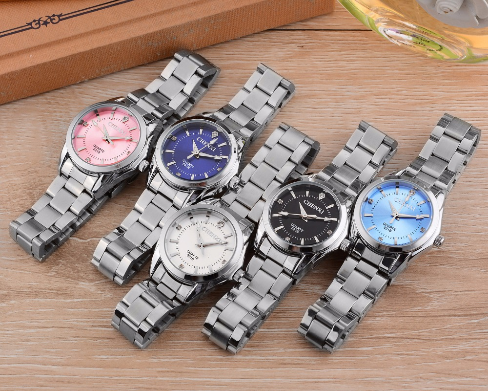 6 Fashion colors CHENXI CX021B Brand relogio Luxury Women's Casual watches waterproof watch women fashion Dress Rhinestone watch 14