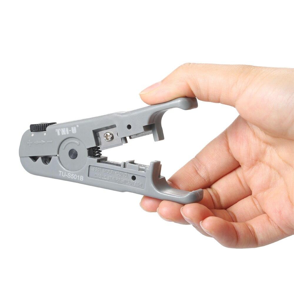 Handwerkzeuge Sonderabschnitt Effizienz Multifunktionale Draht Stripper Cutter Netzwerkkabel Telefon Abisolierwerkzeug