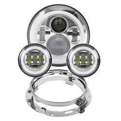 אופנוע 7 אינץ Moto LED פנס לharley אופניים עם 4-1/2