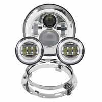 Motorrad 7 zoll Moto LED Scheinwerfer für Harley bike mit 4-1/2 4,5 LED Vorbei Lampen Nebel lichter & 7 Halterung Montage Ring