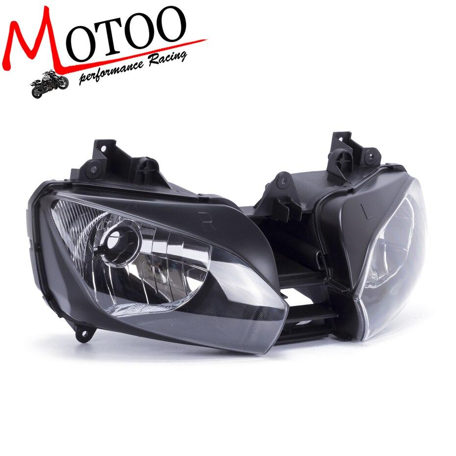 Motoo-LIVRAISON GRATUITE Moto Objectif Clair Phare de Phare Pour Yamaha YZF R6 1998-2002 Avant Head Light assemblée Logement