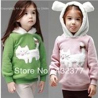 Free Shipping 2013 New Autumn And Winter Children Fashion Cute Rabbit Pattern Sweater Kids Outerwear Coats