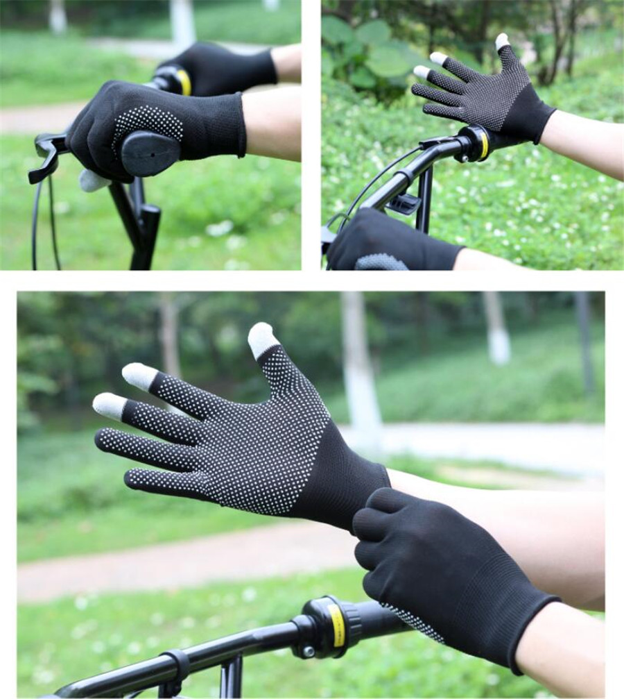 UNWE Breathable Anti Skid Gel Touch Screen Gloves for Summer Suitable for Bike Riding and Driving Enables to Use Phone Without Exposing Hands 12