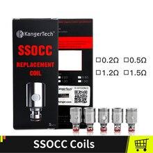 Kangertech SSOCC Coils Fit Kanger Toptank Subtank Topbox mini Subox mini c Vape Tanks Sub ohm 0.5ohm 1.5ohm Coils 5 pcs/lot стоимость