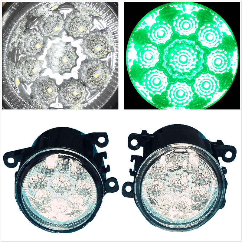 LED Green Fog Lights Lamps Car-Styling For Renault LOGAN  Laguna 2/3  MEGANE 2/3/CC  Fluence  Koleos  SANDERO STEPWAY  2002-2015 1pcs 4d led rear emblem car logo light for renault koleos megane latitude fluence car led badge bulb car styling