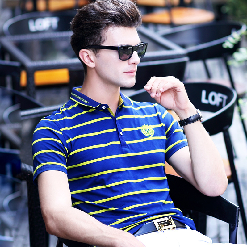 2019 High quality brand Embroidery   Polo   Shirts Men Cotton Anti-Pilling Breathable   polo   man stripe   polo     Polos   Man homme