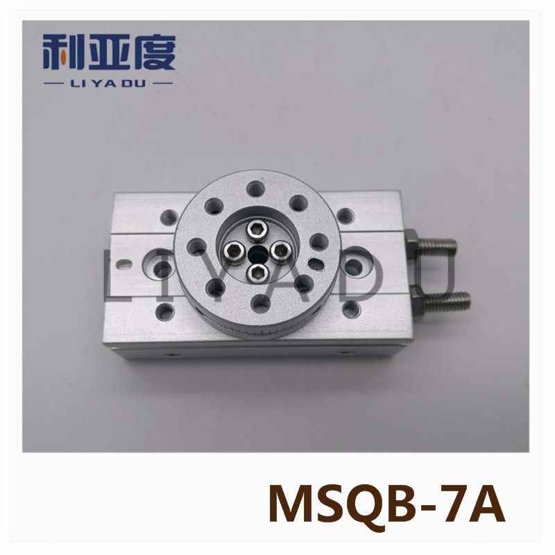 SMC type MSQB-7A rack and pinion type cylinder / rotary cylinder /oscillating cylinder, with angle adjustment screw MSQB 7A smc type cylinder msqb 50a rotary table rack and pinion type bore size 25mm accept custom air cylinder smc cylinder