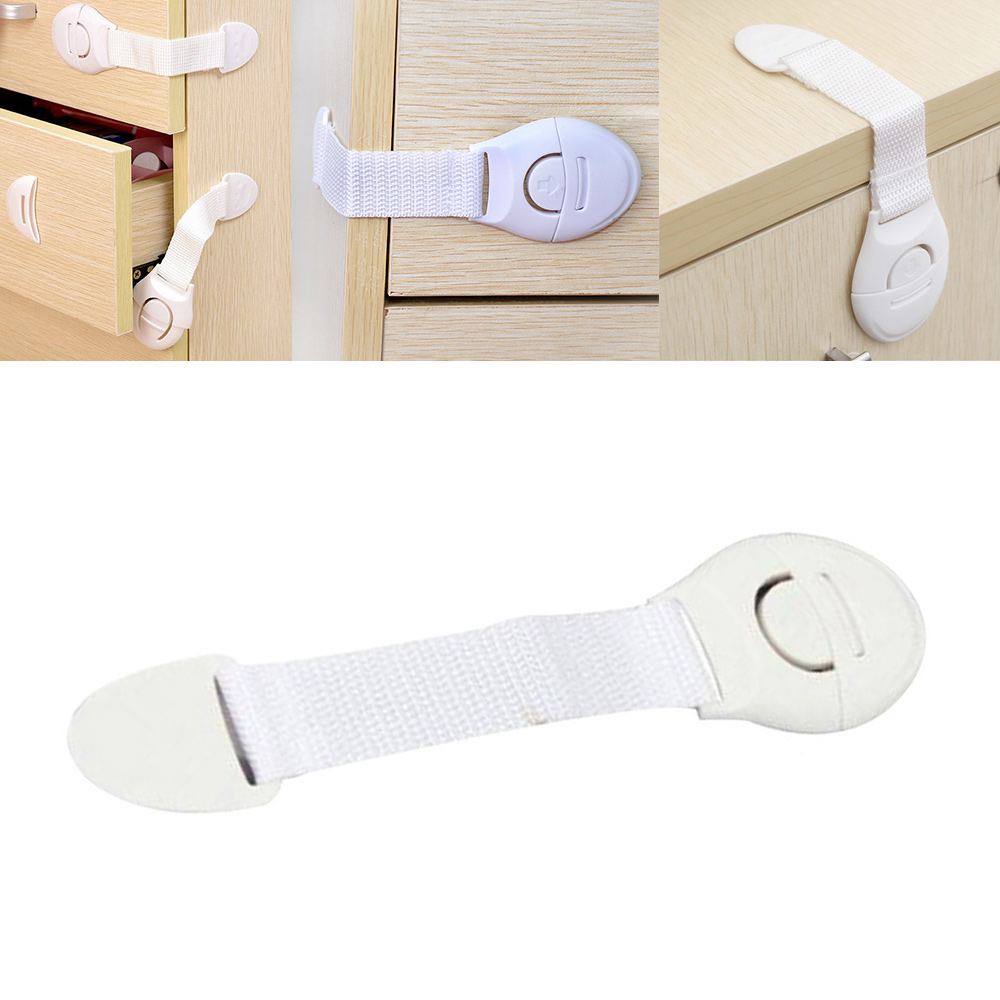 10Pcs/Lot Plastic Baby Safety Lock Children Protection Drawer Door Cabinet Cupboard Toilet Kids Safety Locks For Infant Security
