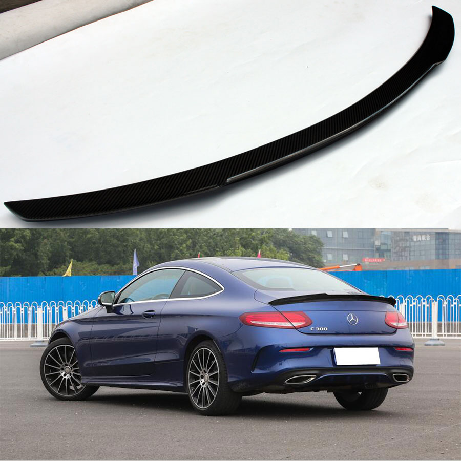 FD style W205 C205 Carbon fiber Rear Trunk Spoiler Wing lip for <font><b>Mercedes</b></font> Benz C250 <font><b>C300</b></font> <font><b>coupe</b></font> 2door only 2015up image