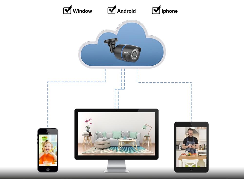 MISECU 1080P POE NVR 4pcs 2.0mp PoE IP Camera P2P HDMI/VGA 1080P 1TB HDD Night IR mobile view outdoor CCTV Security Surveillance