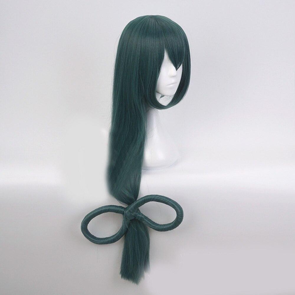 100cm long ash green wavy anime