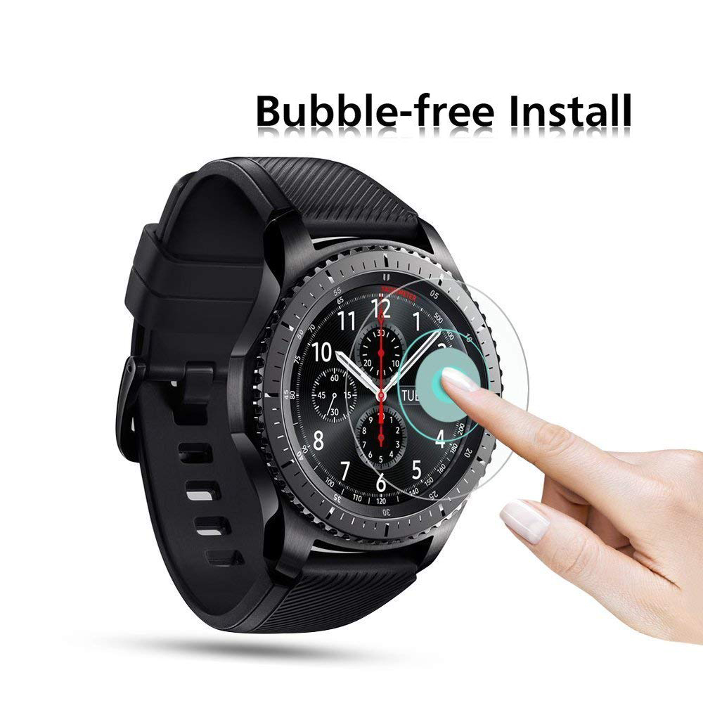 Screen Protector Film For Samsung Galaxy Watch 46mm 42mm Replacement Band Anti-Shock Tempered Glass Protective S3 S2 Accessories