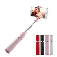 Portable Lipstick Selfie Stick Cute Extendable Wired Monopod For 7/7 Plus 5s Samsung S7 S6 S5 Android Smart Phones @JH