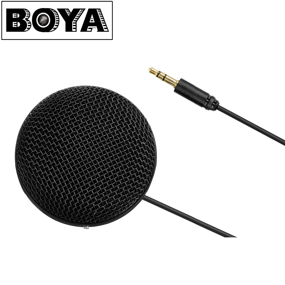 BOYA BY-MM2 Omnidirectional Condenser Stereo Microphone for iPhone 8 8 plus 7 Canon Nikon Sony DSLR Camera Panasonic Camcorder
