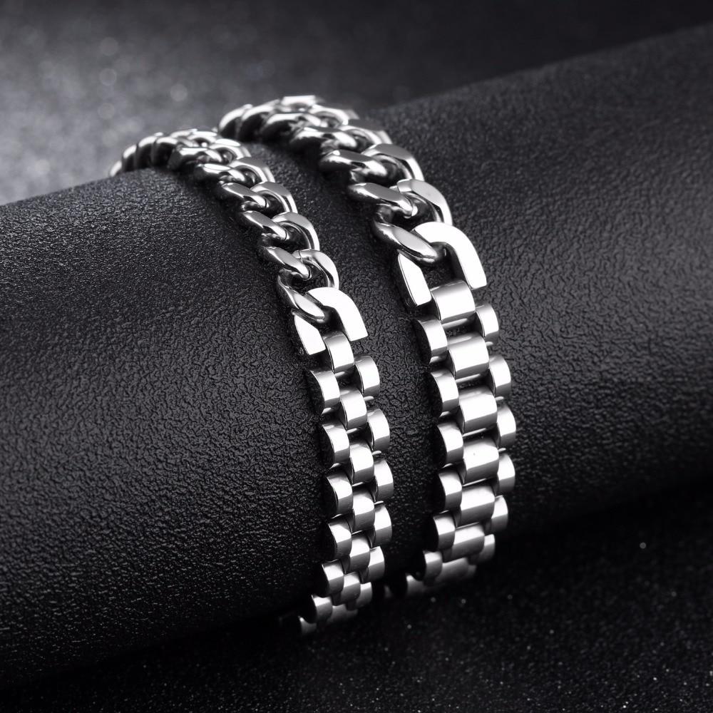Hiphop Chain Bracelet For Men 316L Stainless Steel Length ...
