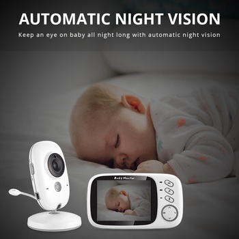 VB603 Wireless Video Color Baby Monitor 3.2 Inch High Resolution Night Vision Temperature Monitoring Baby Nanny Security Camera 3