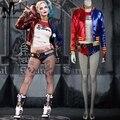 Esquadrão suicida Harley Quinn traje cosplay trajes de Halloween para as mulheres adultas do traje Harley Quinn cosplay terno jaqueta Harley