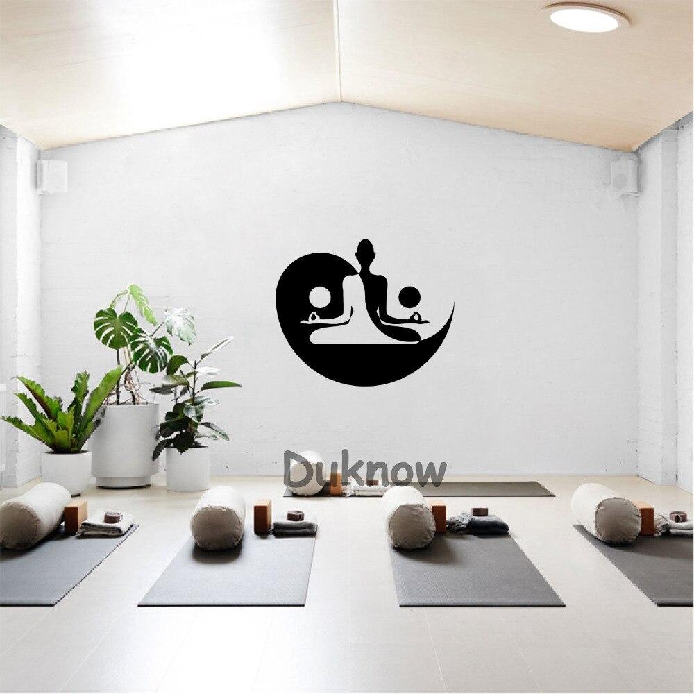 Décoration Salle De Méditation yoga zen meditation vinyl art stickers gym wall decoration yin yang wall  art decals mural home living room bedroom decor