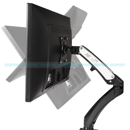 NB F100 360 Degree Gas Spring 17-27 Monitor Holder Arm Desktop Clamping Or Grommet With 2 USB interface nb f180 gas spring full motion 17 27 dual screen monitor holder desktop clamping or grommet tv mount with usb and audio port